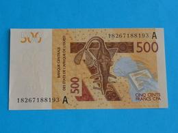 500  FRANCS  CFA  B.C.E.A.O  2018 A Unc  (  COTE  D' IVOIRE  ) - Côte D'Ivoire