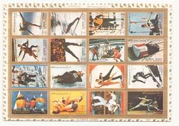 Arabie Ajman, 1972, Feuille Jeux Olympiques Oblitéré - Timbres