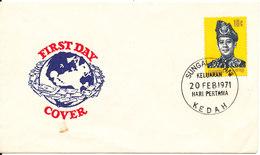 Malaysia FDC Keda 20-2-1971 - Malaysia (1964-...)