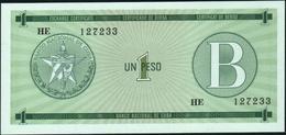 CUBA - 1 Peso Nd.(1985) {Foreign Exchange Certificates} UNC P. FX6 - Cuba