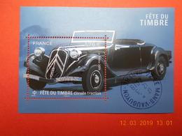FRANCE 2019   FETE DU TIMBRE  Feuillet Citroen Traction  Beaux Cachets Ronds Sur Timbre  Neuf - France