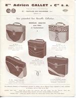 Plaquette Publicitaire & Commerciale - Ets A.GALLET - CHATILLON S/CHALARONNE (Ain) - Accessoires Pour Cycles - France