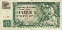 Chequia - Czech Republic 100 Korun 1993 Pk 1 A Sello 100 Sobre Checoslovaquia 91.a Ref 3019-2 - República Checa