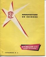 Plaquette Publicitaire & Commerciale - Ets F.BELLERI Cie - ST-ETIENNE - Manufacture De Guidons Et Selles Pour Cycles - France