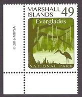 Marshall Islands 2016 - National Parks Of America, Park, Everglades, Forest, Birds MNH - Marshallinseln