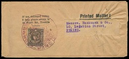 China - XX. C.1939. Tientsin - Peking. Local Printed Matter Rate Fkd Wrapper / Special Cachet. Scarce Circulated On Time - China