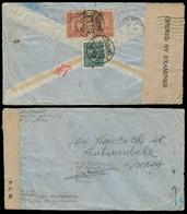 China - XX. 1944 (March). Chengtu - USA. Fkd Env + Censored Liberated Area. Via BOAC / PAA. - Chine
