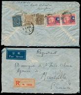 China - XX. 1946 (8 June). Shanghai - France. Reg Multifkd Env. Mixed Issues. - Cina