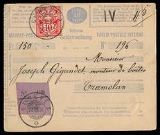 SWITZERLAND. 1884. Geneve - Tramelan. Mandat - Post / 30 Taxa 10c Fkd + Violet Label. - Switzerland