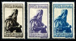1942 Romania (3) Semi Posts - 1918-1948 Ferdinand, Charles II & Michael