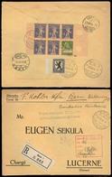 Switzerland - XX. 1924 (27 Dec). Bern - Luzerne. Reg Multifkd Env On Reverse Bocklet Block Margins Composition. Lovely I - Switzerland