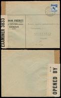 Switzerland - XX. 1941 (21 March). Geneve - Iceland. Private Business Franked Env. / British Doble Label Censorship. Sca - Switzerland