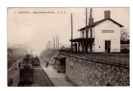 CPA 78 - Mantes - Gare Mantes Station , Train - France