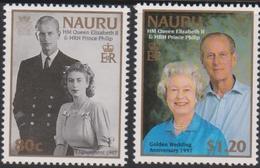 Nauru SG 469-470 1997 Golden Wedding, Mint Never Hinged - Nauru