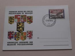 Koninklijke Landsbond Der Belgische Postzegelkringen ( Tentoonstelling / Expo ) 1958 ( Zie / Voir Photo ) ! - Maximumkarten (MC)