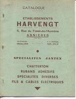 Plaquette Publicitaire & Commerciale - Ets HARVENGT - ASNIERES - Manufacture Accessoires Pour Cycles - Other