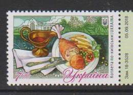 UKRAINE, 2018, MNH, FOOD, CHICKEN KIEV,1v - Alimentazione