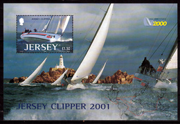 Jersey Blok Mi 31 Jersey Clipper 2001 Postfris M.n.h. Sheet - Jersey