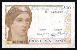 569-France Billet De 300 Francs 1939 X0797 - 1871-1952 Antiguos Francos Circulantes En El XX Siglo
