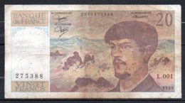 615-France Billet De 20 Francs 1980 L001 - 20 F 1980-1997 ''Debussy''