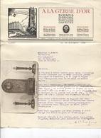 """Correspondance Commerciale - """"A La GERBE D'OR"""" Rue De Rivoli PARIS - Bijoutier Horloger Orfèvre - Sonstige"""