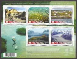 Canada 2015 Unesco - World Heritage Sites, National Parks, Waterton, Kluane, Landscapes, Mountains, Glaciers MNH - 1952-.... Règne D'Elizabeth II