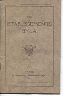 """Plaquette Publicitaire & Commerciale - Ets """"BYLA"""" - PARIS 14è - Produits Pharmaceutiques - France"""