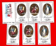 3740 --  FRANCE - 1989  N° 2573/76+2596**  Neufs - France