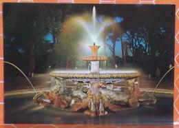 Roma Di Notte Fontana Cavalli Marini Villa Borghese Cartolina Timbro Vicariato Foraneo Pellegrinaggio 1979 - Parks & Gardens