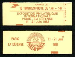 FRANCE - CARNET YT 2102-C6 - OUVERT - GOMME BRILLANTE - DATE - Freimarke