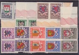 TP Secours D'hiver 1941 (armoiries) N°538 à 546 X 2 (+ 14 TP En Vrac) + Bloc N° 10  , Neufs Sans Charniéres - WW II
