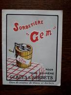 L18/128 Petit Livre Publicitaire De Cuisine. Sorbetiere Gem. ( 12 Recettes ) , 16 Pages - Scores & Partitions