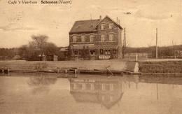 Schoten Café 't Veerhuis  Vaart  Reclame Achter Uitg Commerciale Moderne  Verstuurd 193? - Schoten