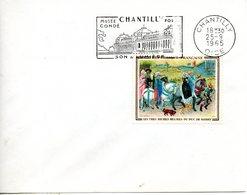 France. Enveloppe Fdc. Les Grandes Heures Du Duc De Berry. Chantilly. 25/09/1965 - FDC
