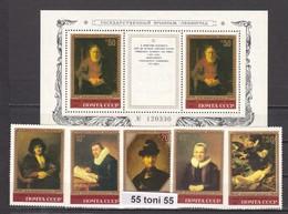 1983  Art Painting Rembrandt 5v.+S/S- MNH USSR - Rembrandt