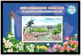 North Korea 2012 Mih. 5920 Philatelic Exhibition In Paris. Arch Of Triumph And Chollima Statue MNH ** - Korea, North