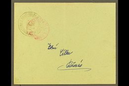 "1913 Franked Envelope Addressed To Durres Bearing Circular (1gr) ""MINISTERIA E POST-TELEG E TELEFONEVET"" Double Eagle In - Albanie"