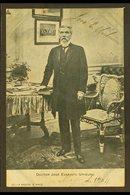 JOSE EVARISTO URIBURU SIGNATURE. 1904 Picture Postcard Portrait, Signed JOSE E. URIBURU, President Of Argentina 1895-189 - Argentine