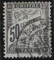 TAXE DUVAL - YVERT N° 20 OBLITERE ALAIS - COTE = 240 EUR. - 1859-1955 Used