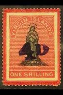 1888 4d On 1s Black & Rose-carmine Toned Paper Surcharge, SG 42, Mint, Fresh Colour. For More Images, Please Visit Http: - Iles Vièrges Britanniques