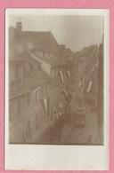 68 - COLMAR - Carte Photo - Libération 1918/1919 - Tram - Tramway - Strassenbahn - Rue Pavoisée - Colmar