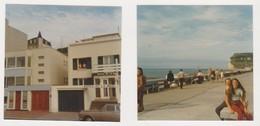 26900 Deux Photos ETRETAT France -touriste 1973 Belgique -hotel De La Mer - Lieux
