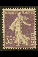 1906 35c Light Violet, Type IIA, Yv 136, Superb NHM. For More Images, Please Visit Http://www.sandafayre.com/itemdetails - France