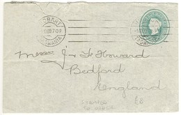 Tasmania 2d QV Postal Stationery Envelope STO 1909 To UK - 1853-1912 Tasmania