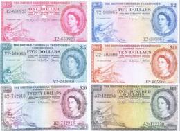 British Caribbean Territories 6 Note Set 1953-64 COPY - Caraïbes Orientales
