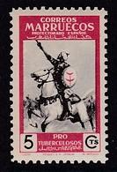 TIMBRE NEUF DU MAROC BUREAUX ESPAGNOLS - GUERRIER A CHEVAL (AU PROFIT DES OEUVRES ANTITUBERCULEUSES) N° Y&T 403 - Militaria