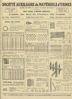 Plaquette Publicitaire & Commerciale - Sté Auxiliaire De Matériels D'Usine- PARIS 19è - Nbreuses Illustrations - France