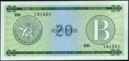 CUBA - 20 Pesos Nd.(1985) {Foreign Exchange Certificates} UNC P. FX9 - Cuba