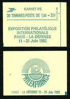 FRANCE - CARNET YT 2219-C1a - FERME - GOMME BRILLANTE - NUMERO - Uso Corrente