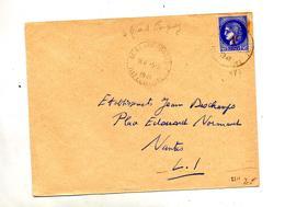 Lettre Cachet Le Grandfougeray Sur Ceres Surchargé - Postmark Collection (Covers)